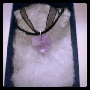 Jewelry - Evening Violet Crystal Heart Necklace